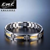 《KMK鈦鍺精品》閃耀金光  純鈦-手鍊