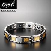 《KMK鈦鍺精品》經典黃金格紋_純鈦(粗款)