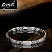 《KMK鈦鍺精品》純真(純鈦+晶鑽+磁鍺健康手鍊)
