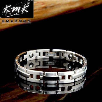 KMK鈦鍺精品 H字母造型 純鈦-手鍊