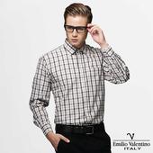 《Emilio Valentino 范倫提諾》純棉格紋襯衫-黃(40/16