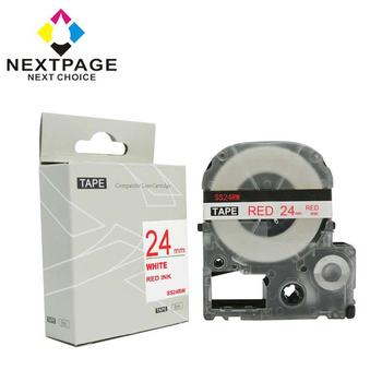 NEXTPAGE EPSON 一般相容標籤帶 LC-6WRN (白底紅字 24mm)