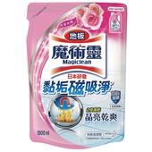 《魔術靈》地板清潔劑補充包-水漾玫瑰(1800ml)