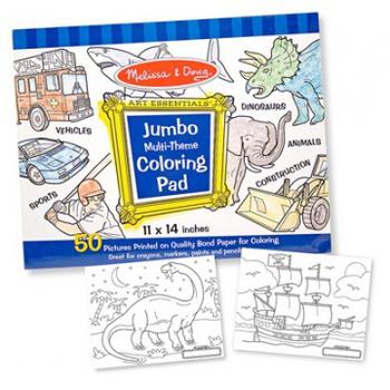 美國瑪莉莎 Melissa & Doug 大型兒童繪圖本(藍色)
