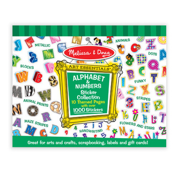 美國瑪莉莎 Melissa & Doug 大型貼紙收藏簿(字母數字)