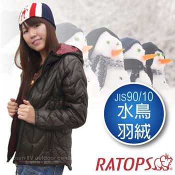 瑞多仕-RATOPS 秋冬特賣-女20丹超輕羽絨衣.羽絨外套.保暖外套.雪衣 RAD360(深咖啡色/暗紅色 M)