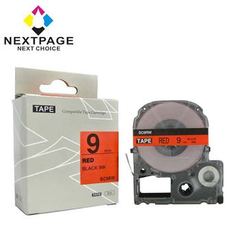 NEXTPAGE EPSON 一般相容標籤帶 LC-3RBP(紅底黑字 9mm)