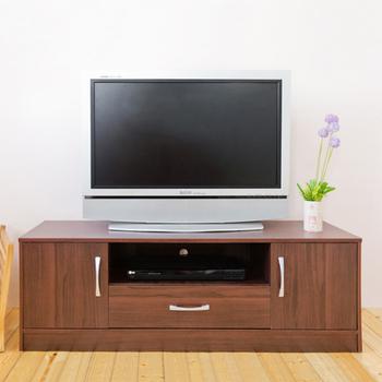 《Hopma》現代二門一抽電視櫃(胡桃木色)
