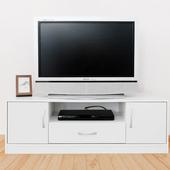 《Hopma》現代二門一抽電視櫃(時尚白)