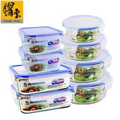 《鍋寶》玻璃保鮮盒幸福人生8件組EO-BVC35290105Z28340
