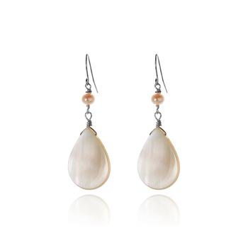 大東山珠寶Luperla 珍珠耳環-珍珠貝