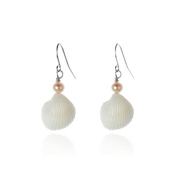 大東山珠寶Luperla 珍珠耳環-貝殼