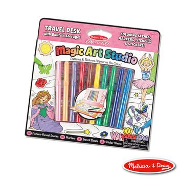 美國瑪莉莎 Melissa & Doug 攜帶式神奇圖畫創作包 - 粉紅色