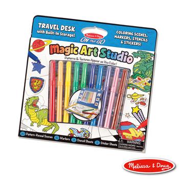 美國瑪莉莎 Melissa & Doug 攜帶式神奇圖畫創作包 - 藍色