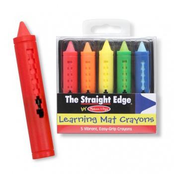 美國瑪莉莎 Melissa & Doug 5 色可水洗蠟筆