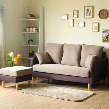YKSHOUSE 淺草L型獨立筒布沙發組-兩色可選(淺咖)