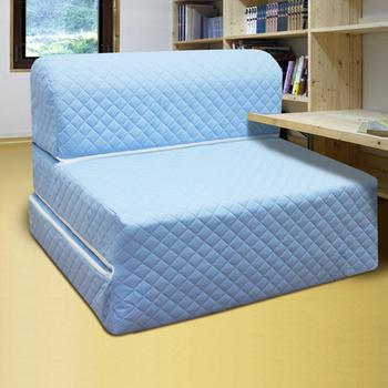 ★結帳現折★KOTAS 高週波吸濕排汗彈簧沙發床椅-單人三尺(藍)