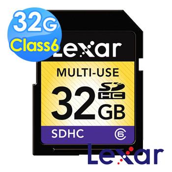 Lexar 雷克沙 32GB Class6 SDHC 記憶卡