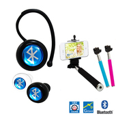 【IS】BL560迷你自拍藍牙耳機 藍牙v3.0-送精美自拍桿(黑耳機+黑色桿)