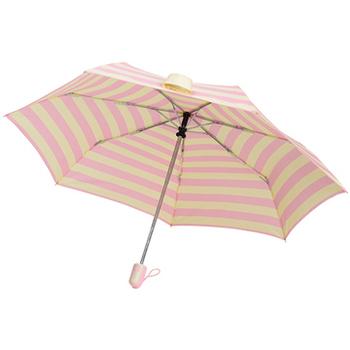 SC life 海軍條紋自動開收傘-粉紅色