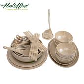 《Husk's ware》稻殼天然無毒環保碗盤餐具32件組