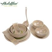 《Husk's ware》稻殼天然無毒環保碗盤餐具18件組