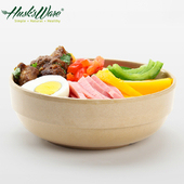 《Husk's ware》稻殼天然無毒環保平底圓碗6吋(5入組)