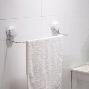 三合一 高質感吸盤毛巾浴巾架