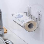 《三合一》高質感吸盤廚房餐紙架