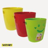 《VICTORY》開心微笑/收納籃/垃圾桶
