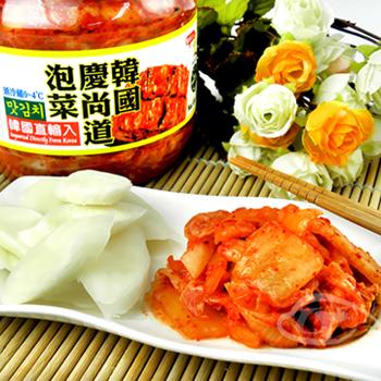 韓英 韓國慶尚道泡菜1kg/罐+年糕片400g/包(1組)