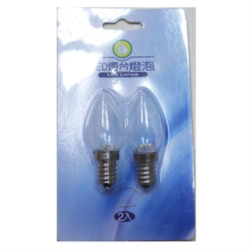 FP LED燭台燈泡-黃光(0.2W/E12/2入)