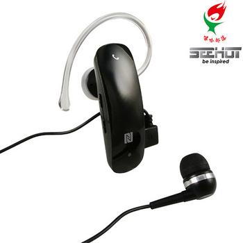嘻哈部落Seehot BT4.0 NFC 雙待機單音/立體聲2合1藍牙耳機(SBS-803)(黑色)