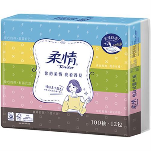 柔情 抽取衛生紙式衛生紙(100抽*12包)