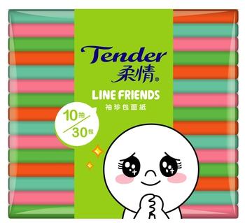 柔情 袖珍包面紙(10抽*30包)
