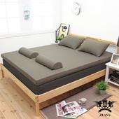 《黎安思-Zean's》細緻S型竹炭釋壓記憶床墊-單人加大7cm-3色選(森綠色)