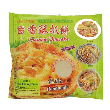 義美 手工香酥抓餅-芝麻口味(110g*5片/包)