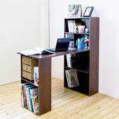 《Hopma》水漾4+2書櫃型書桌(胡桃木色)