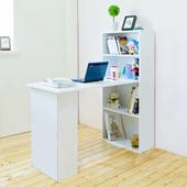 《Hopma》水漾4+2書櫃型書桌(時尚白)
