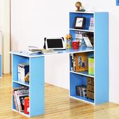 《Hopma》水漾4+2書櫃型書桌(水藍配白)