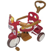 快樂熊喇叭護圍手控三輪車(紅色)