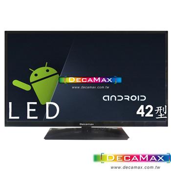 DECAMAX DECAMAX 42吋SMART聯網LED顯示器+類比視訊盒(DM-42FCA-SMART)