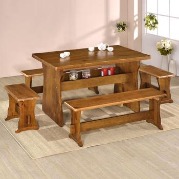 《Homelike》田園休閒桌椅組