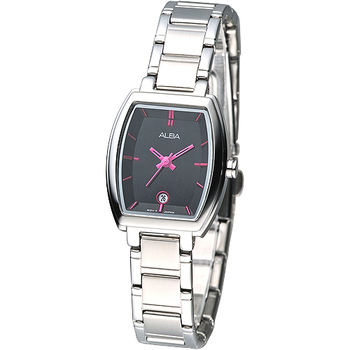 ALBA 經典酒桶造型系列女腕錶-黑(AH7663X1)