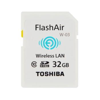 TOSHIBA FlashAir Class10 32G SDHC WiFi 記憶卡(W-03)(32G)