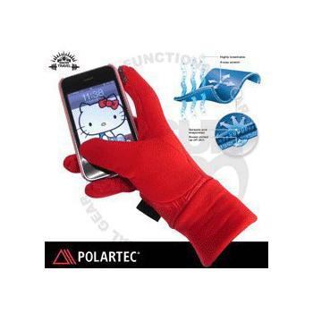 SNOW TRAVEL 美國X-STATIC銀纖維保暖觸控手套 AR-61 C(紅 M)