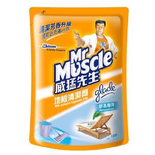 《威猛先生》地板清潔劑補充包-舒活海洋(1800ml)