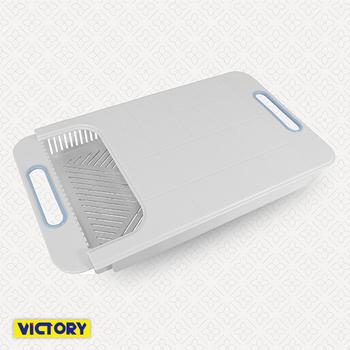 《VICTORY》伸縮式/調理/砧板/碗盤架/瀝水架
