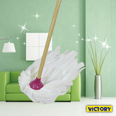 《VICTORY》易潔吸水布圓型拖把(適用於小面積好使用)