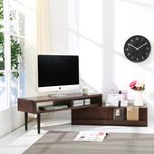《BuyJM》和風百變防潑水兩用多功能電視櫃/茶几/和室桌(胡桃色)
